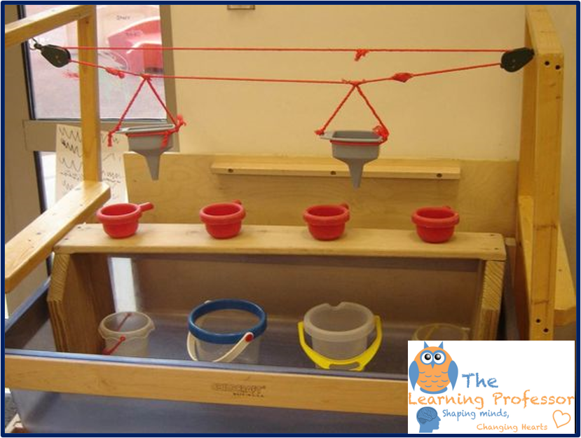 pulley sensory table